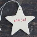 Paper boat press - Julestjerne med ord, god jul